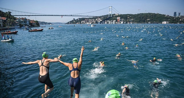 Bosphorous Swim - The Start