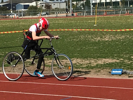 Thomas in action with his RaceRunner