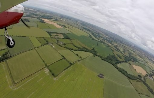 Arial view of Eshott Airfield