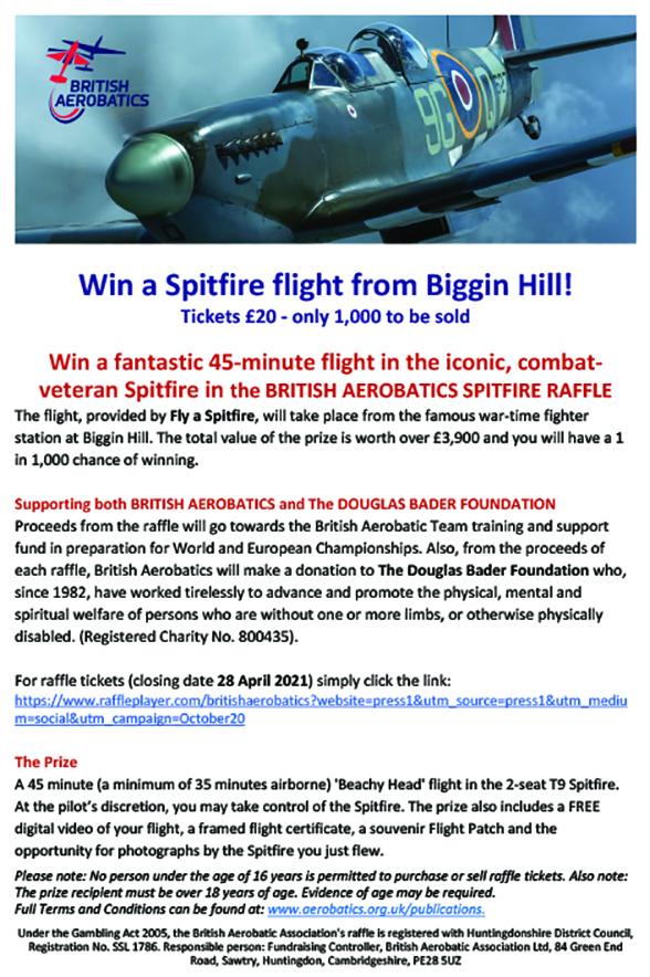 Win a Spitfire Flight