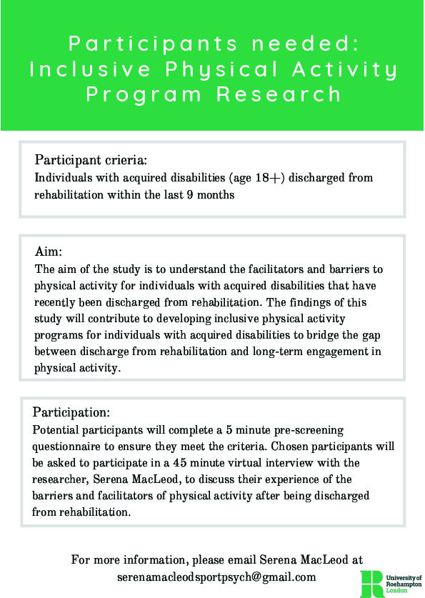 Physical Activity Program Research